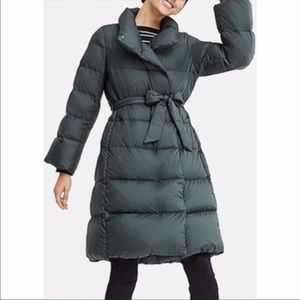 Uniqlo Green Quilted Down Coat Size M